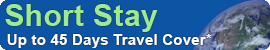 Short stay Responsible travel insurance by Voyager - for backpacker, GAP year and sabbatical